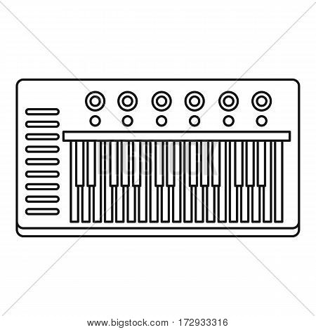 Music synthesizer icon. Outline illustration of music synthesizer vector icon for web