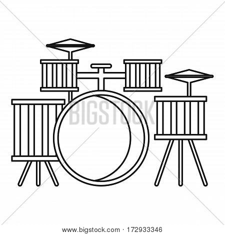 Drums icon. Outline illustration of drums vector icon for web