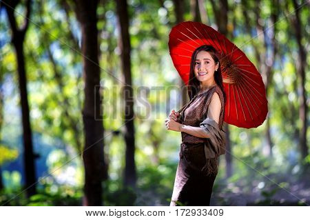Asian girl Beautiful girl in Laos costume Lao girls