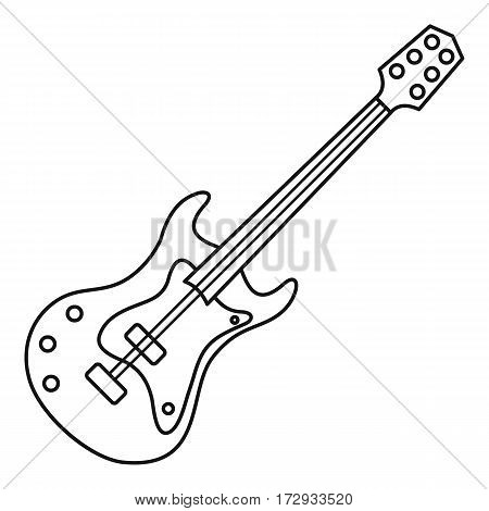 Electric guitar icon. Outline illustration of electric guitar vector icon for web