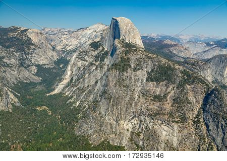 Glacier Point is a viewpoint above Yosemite Valley in California United States. It is located on the south wall of Yosemite Valley at an elevation of 7214 feet