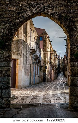 Erice, Trapani, Sicily, Italy - View Of The Street