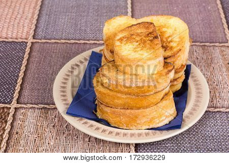 French Toast On The Plate