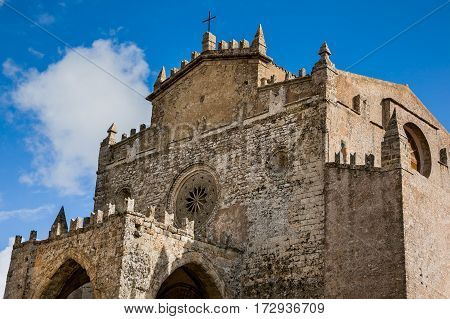 Erice, Trapani, Sicily, Italy - Cathedral Of Erice