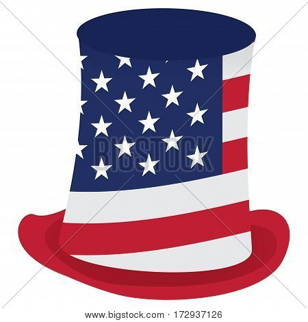 Isolated american hat on a white background, Vector illustration