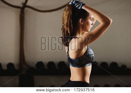 Fitness Teenage Woman In Gym