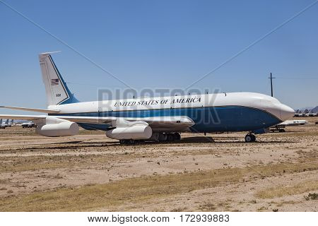 Old Airforce One At Davis-monthan Air Force Base Amarg Boneyard In Tucson