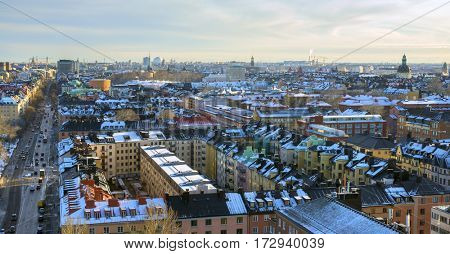 Panorama of Stockholm city, Sweden