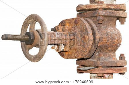 the Pipes and Valves on white background