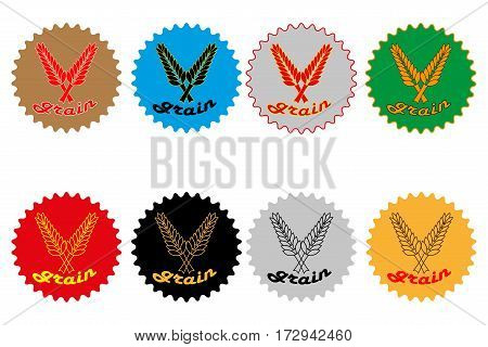 Grain label or sticker vector illustration ,