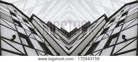 Infers a modern building abstraction, minimalism art