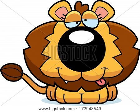 Cartoon Goofy Lion Cub
