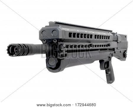 Cool black shotgun on a white background