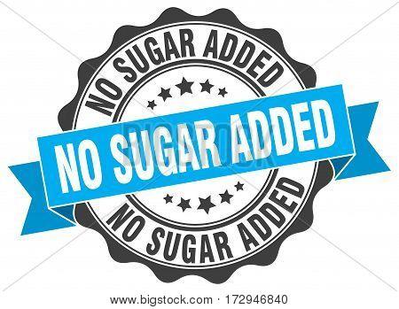no sugar added. stamp. sign. seal. round. retro. ribbon