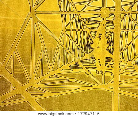 Yellow abstract texture or background. Geometric design element.