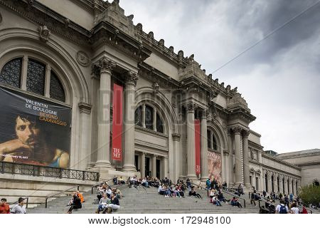 New YOrk, USA, november 2016: The Metropolitan Museum of Art in New York City