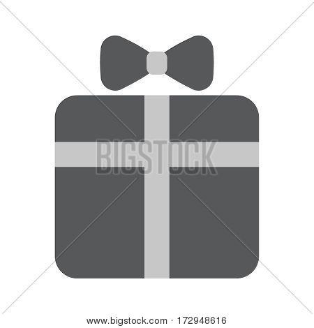 Gift box flat icon vector illustration EPS10