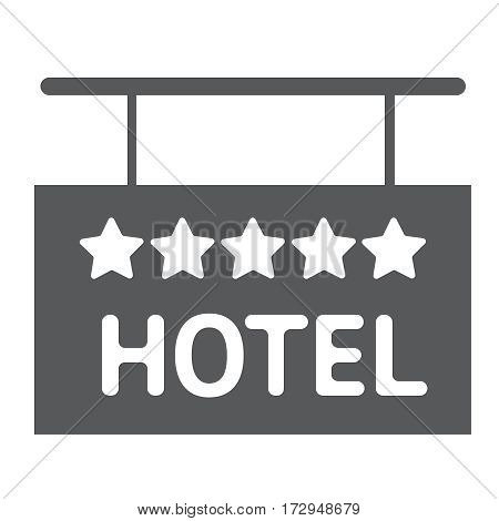 Hotel flat icon solid 5 star sign silhouette vector illustration EPS10