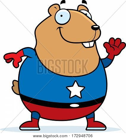 Cartoon Superhero Hamster