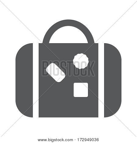 Flat icon of travaling bag vector illustration EPS10