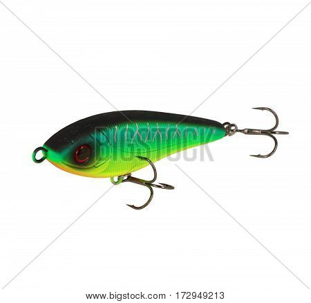 Fishing Lure Isolated On White. Wobbler In Three Color.