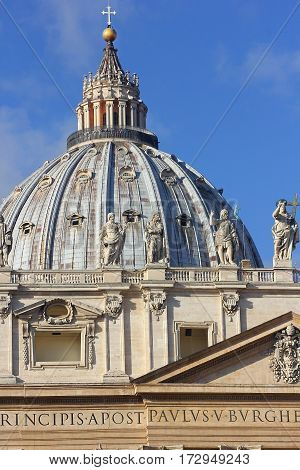 dome of the St. Peter's Basilica, Vatican City, Rome, Italy