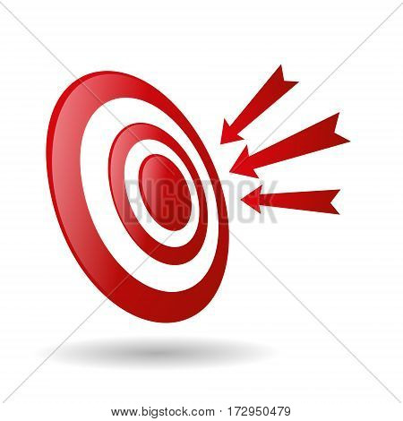 Archery Target With Arrows Archer Sport Game Competition Icon Vector Illustration