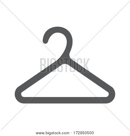 Hanger icon. Flat design style. Hanger silhouette. Simple icon. Modern flat icon web site page and mobile app design vector element.