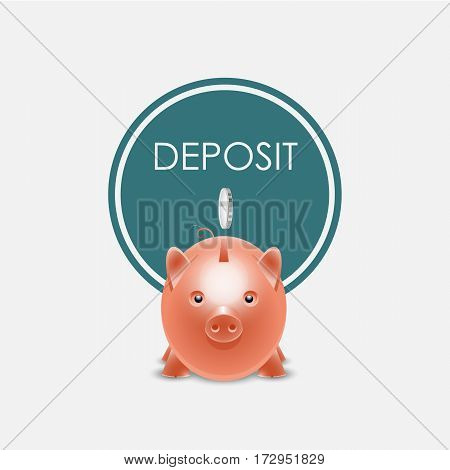 logo design tamplate piggy bank. Vector illustration