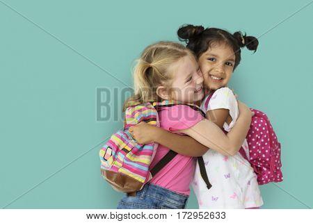 Little Girl Children Smiling Happiness Friendship