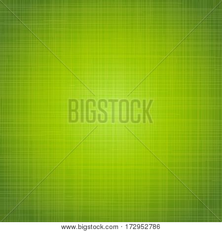 Green cloth texture background. Vector illustration for your fresh natural design. Book cover. Fabric bright ecological canvas wallpaper with striped pattern.