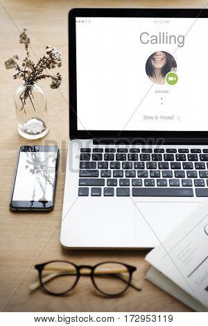 Calling Communication Conversation Internet Icon Word