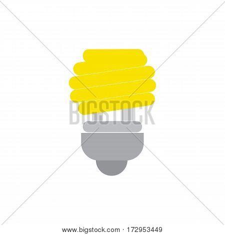 Save bulb icon vector with energy saving