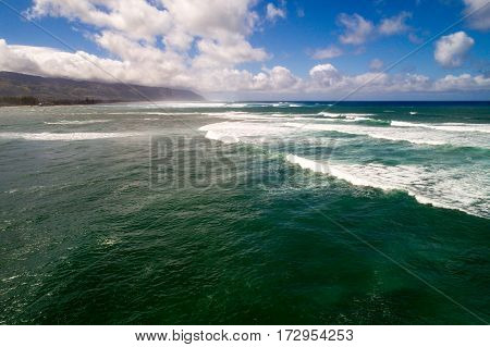Aerial image of North Shore Oahu Hawaii
