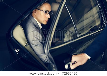 Hand Open Car Door Businessman
