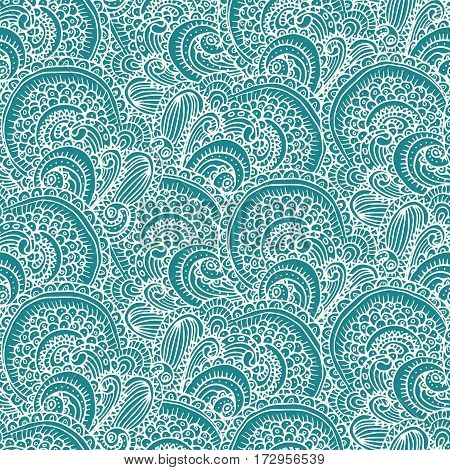 Ethnic tribal abstract seamless background pattern in vector