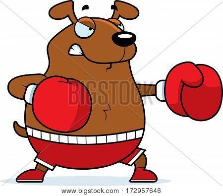 Cartoon Dog Boxing