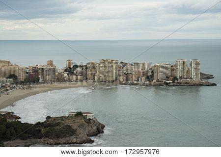 The town of oropesa del mar in Castellon