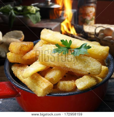 Fried cassava
