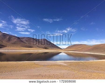 Laguna altiplanica San Pedro de Atacama, Chile 2017