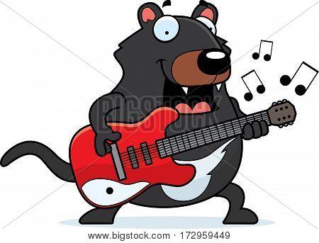 Cartoon Tasmanian Devil Guitar