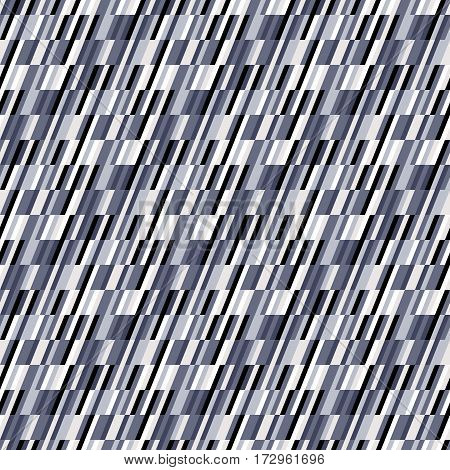 Abstract geometric color blocked pattern with lines, stripes, random colors, geometric shapes. Vector seamless abstract print in op art style. Colorful bold textile design for summer fall fashion