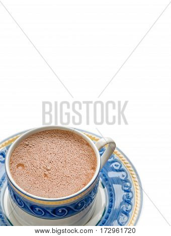 Traditional Mexican Chocolate Cup Isolated