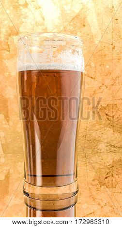 3d illustration of a glass of fresh beer
