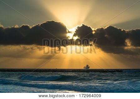 Beautiful sunrise in Cancun, Quintana Roo, Mexico