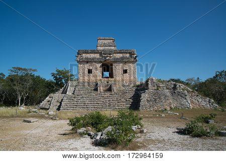 Accident Mayan Ruins Dzibilchaltun in Yucatan, Mexico