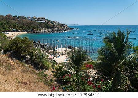 Playa Manzanillo beach in Puerto Escondido, Mexico