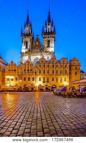Tyn Church, Landmark Of Prague Old City