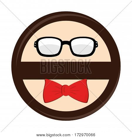 hipster style accesories icon vector illustration design