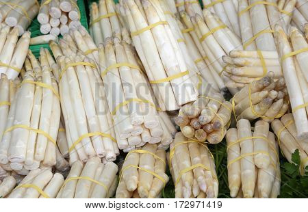 White Asparagus For Sale In The Grocery Store